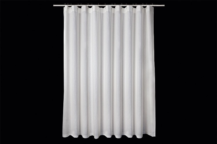 Fancy Curtains For Home Sheer Linen Shower Curtain