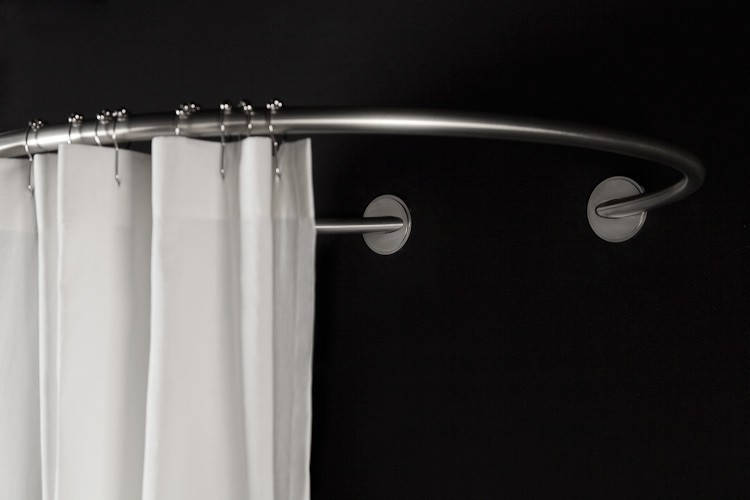 Circular Wall Shower Rod 90