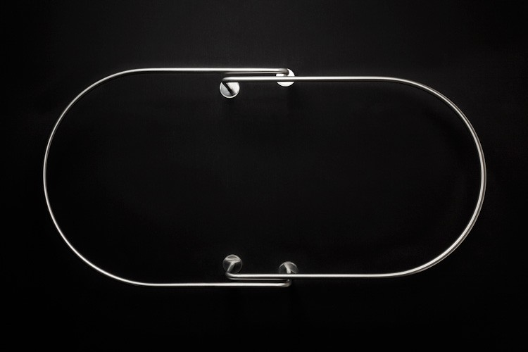 Barre de rideau de douche plafond ovale 90 GalboTwins