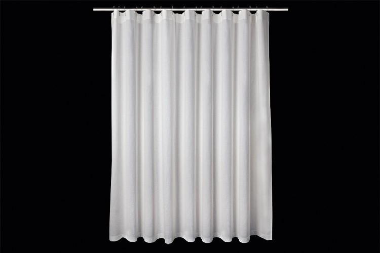 Linen Shower Curtain White H 210 Cm 8268 X L 180 Cm