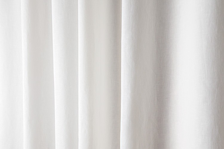 Linen shower curtain White, H 210 cm (82.68'') x L 180 cm (70.87 ...