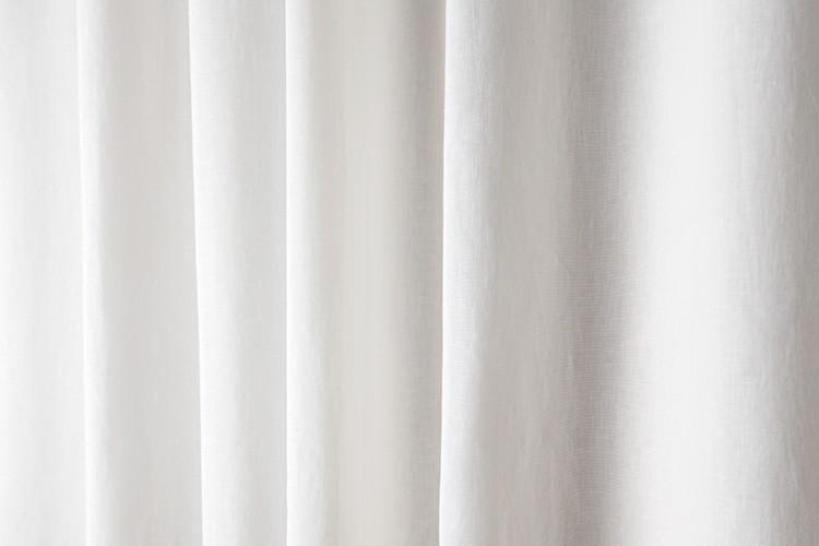 Linen Shower Curtain White H 210 Cm X L 180 Cm