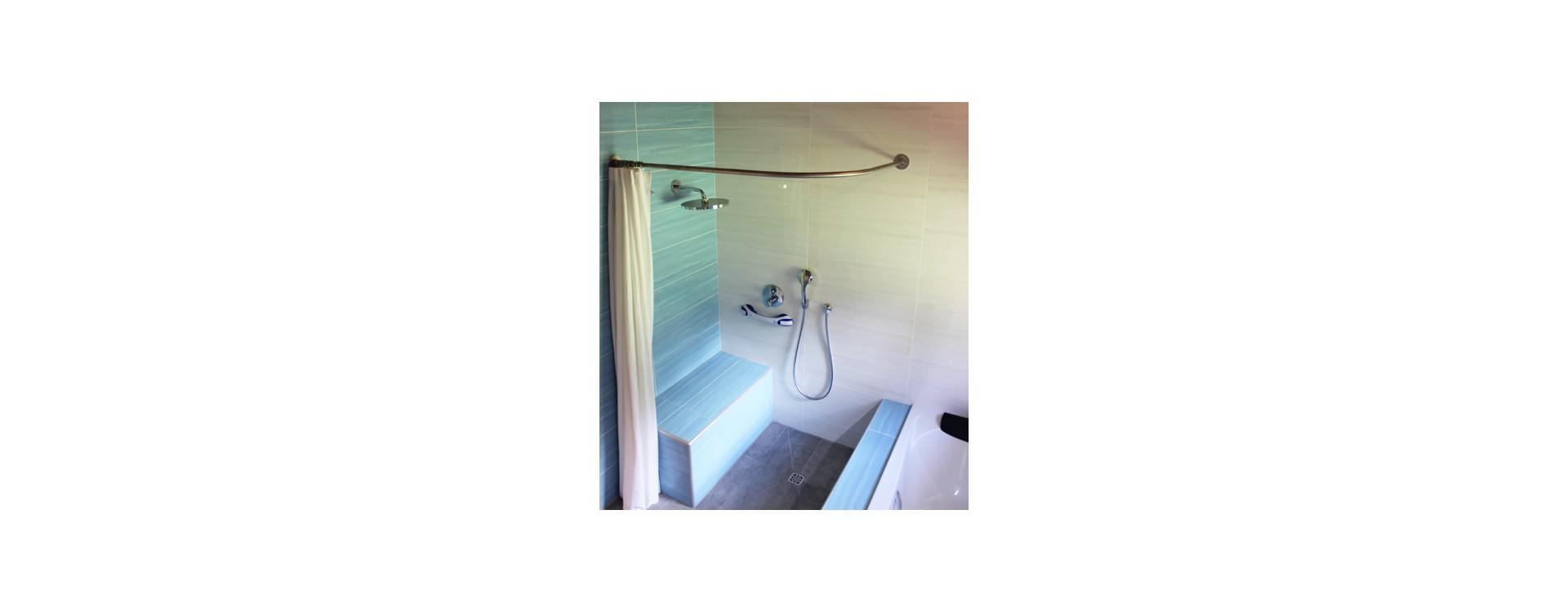 Solution GalboBain et la salle de bain accessible en fauteuil roulant