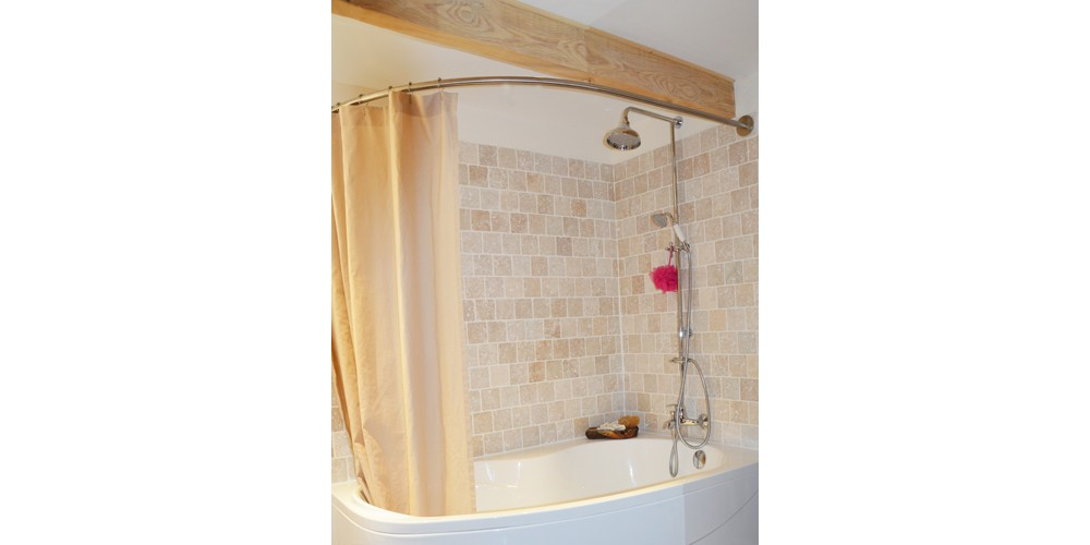 Barre de rideau de douche dangle castorama - Tringle a rideau arrondie ...