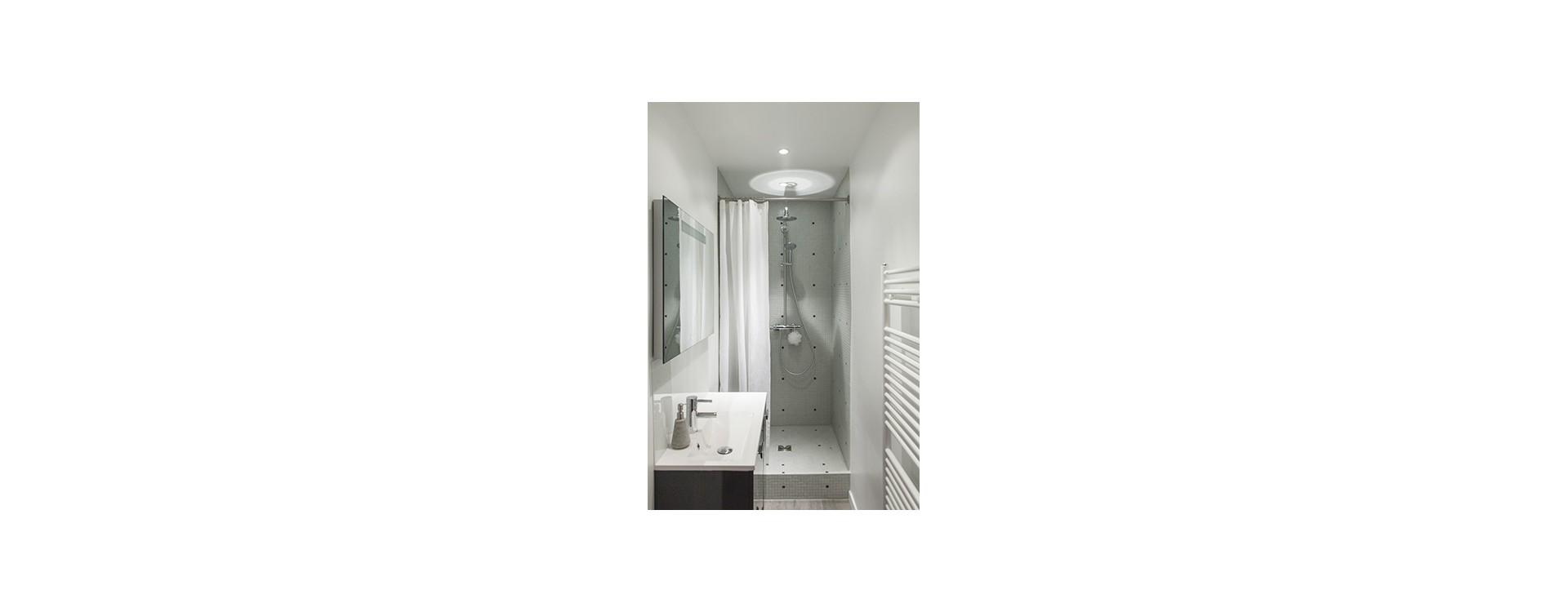 Nouveauté GalboBain 2013: La barre de rideau de douche droite