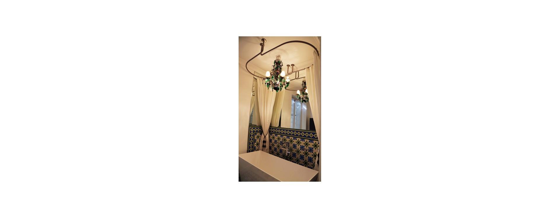 GalboTwins: la cabine de douche textile ovale pour baignoire îlot