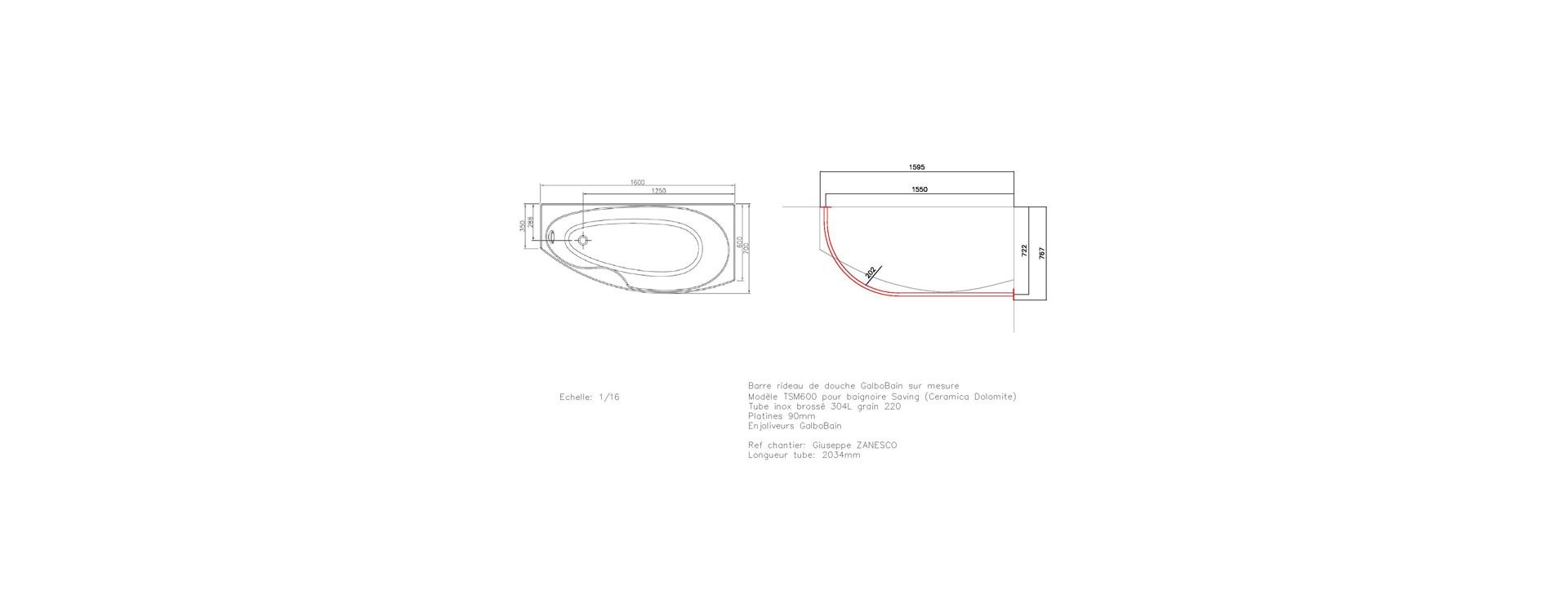 Dimensions standard baignoire baignoire novellini calypso for Mesure standard baignoire
