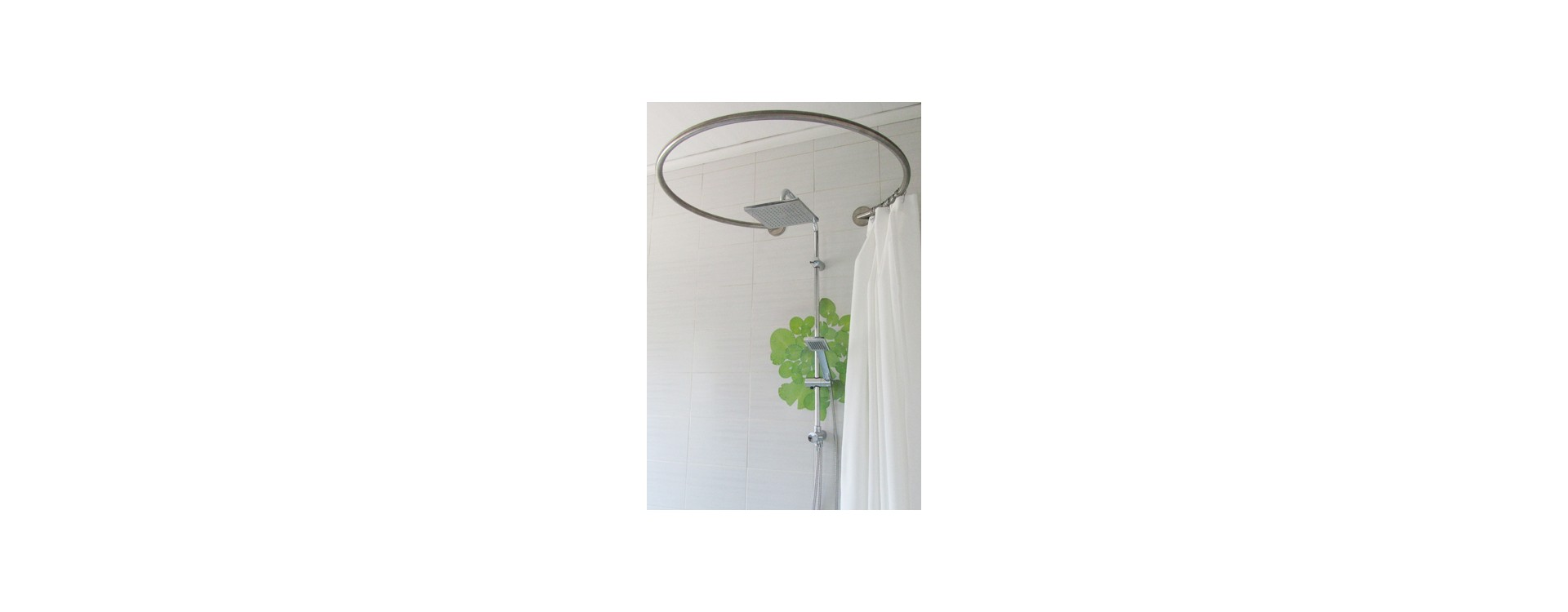 Paroi de douche textile circulaire GalboBain pour baignoire