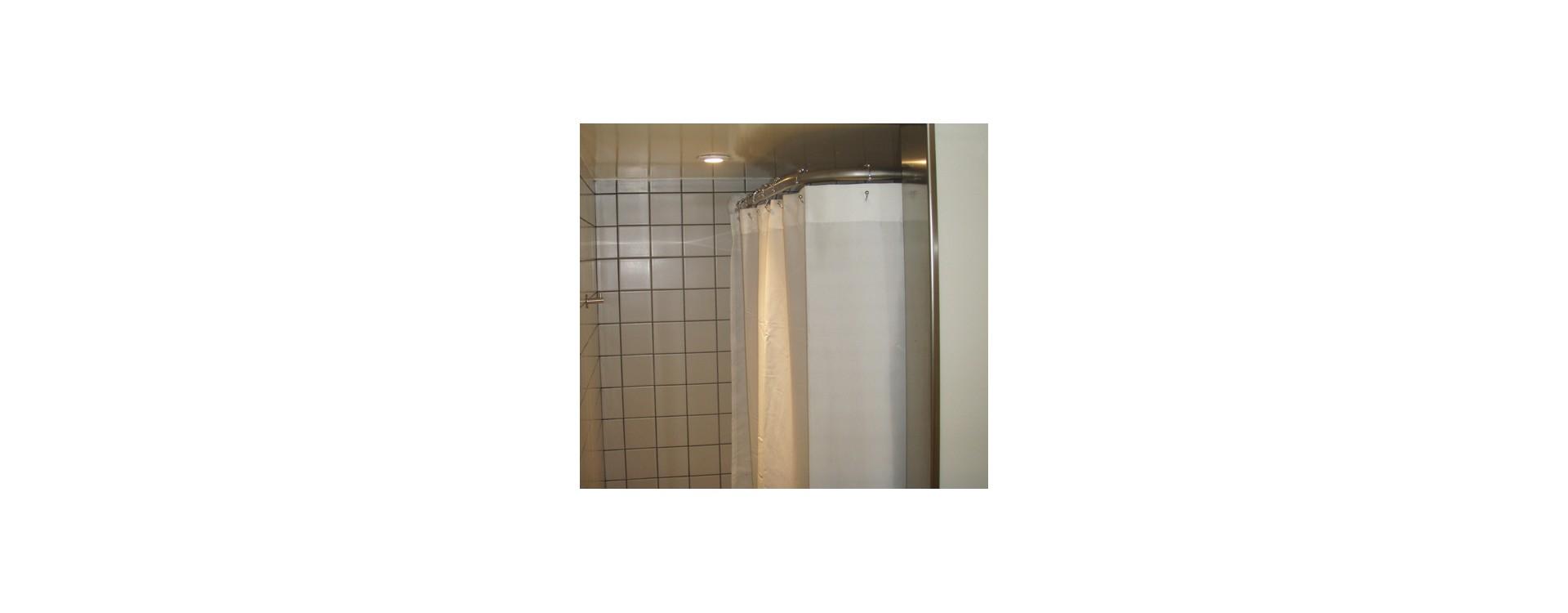 tringle rideau de douche en L