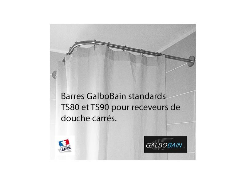 Nouveauté : barres rideau de douche standards TS80 et TS90 pour receveurs de douche carrés