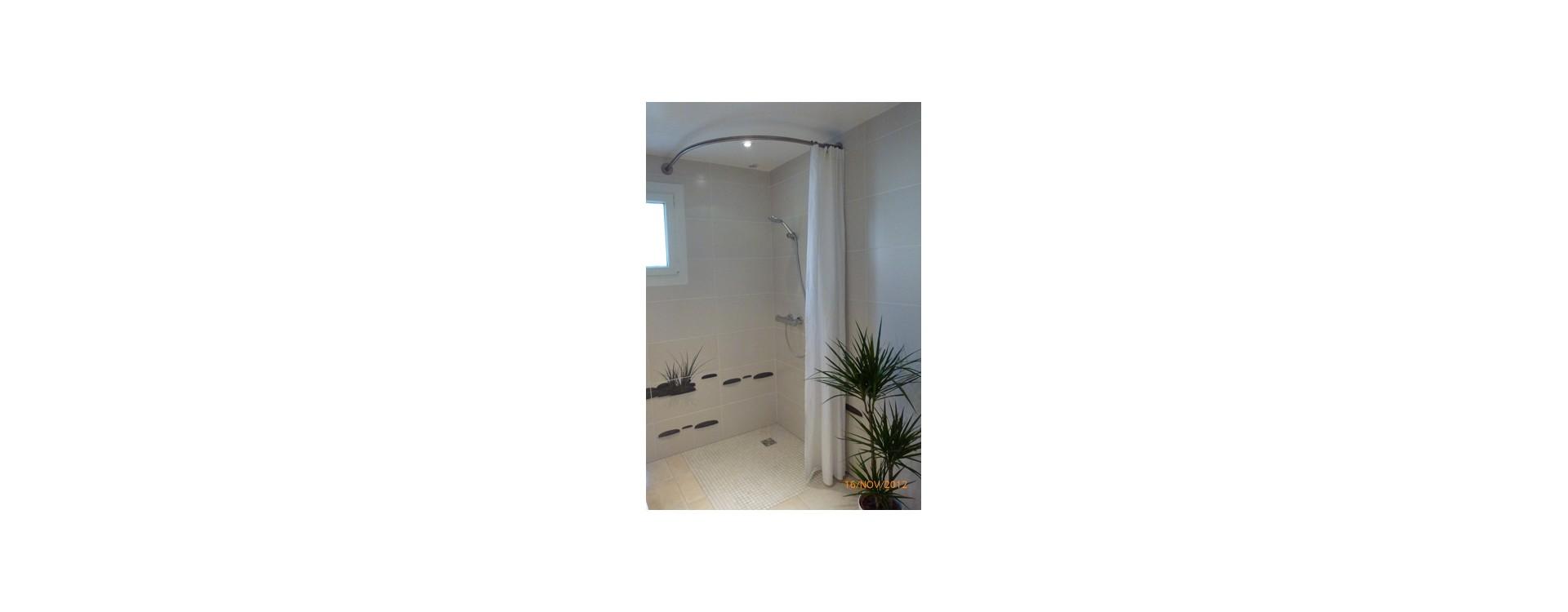 Rideau de douche GalboBain sur-mesure grande hauteur