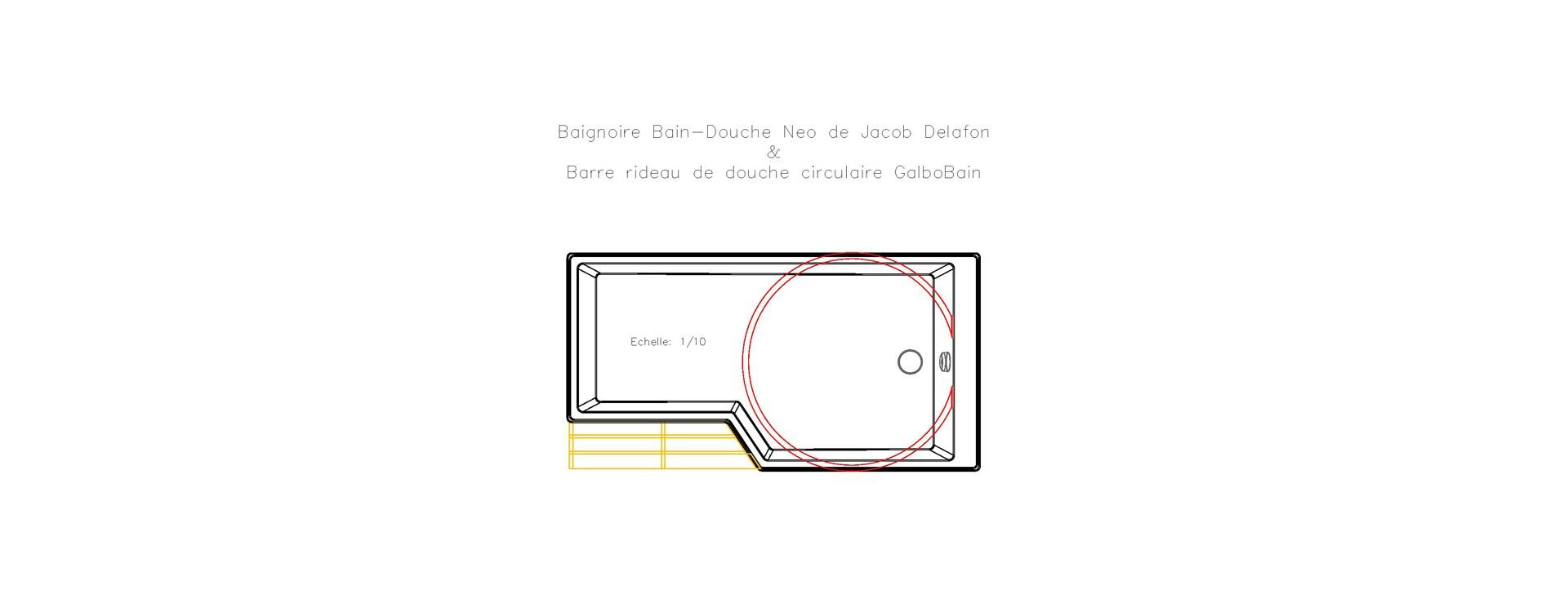 Baignoire Neo De Jacob Delafon Et Barre Circulaire Galbobain