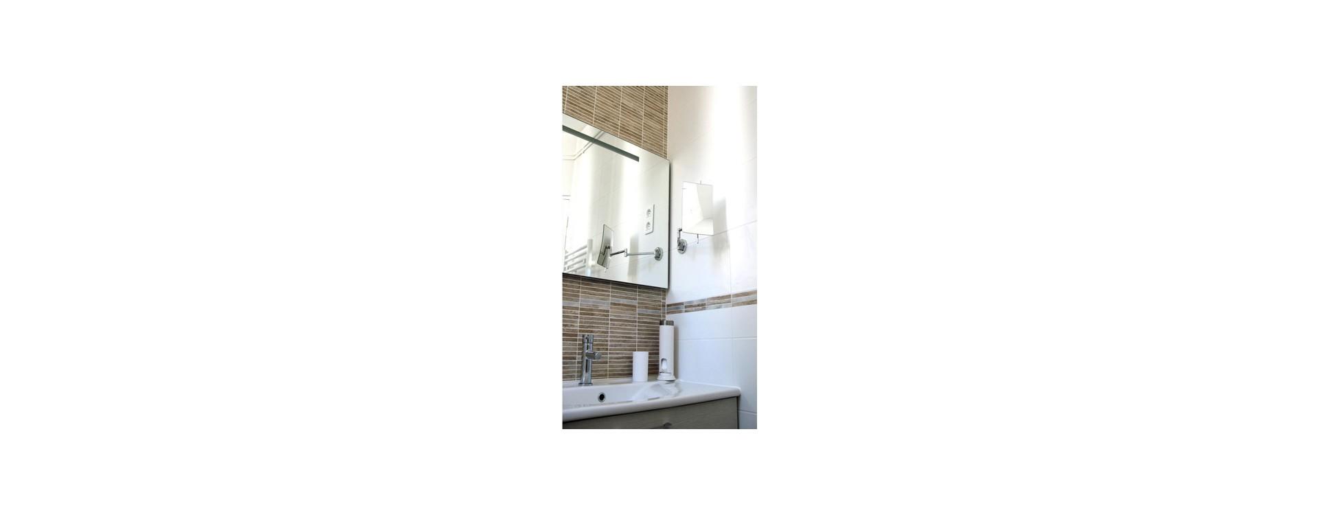 Cabine de douche textile sur mesure GalboBain pour baignoire