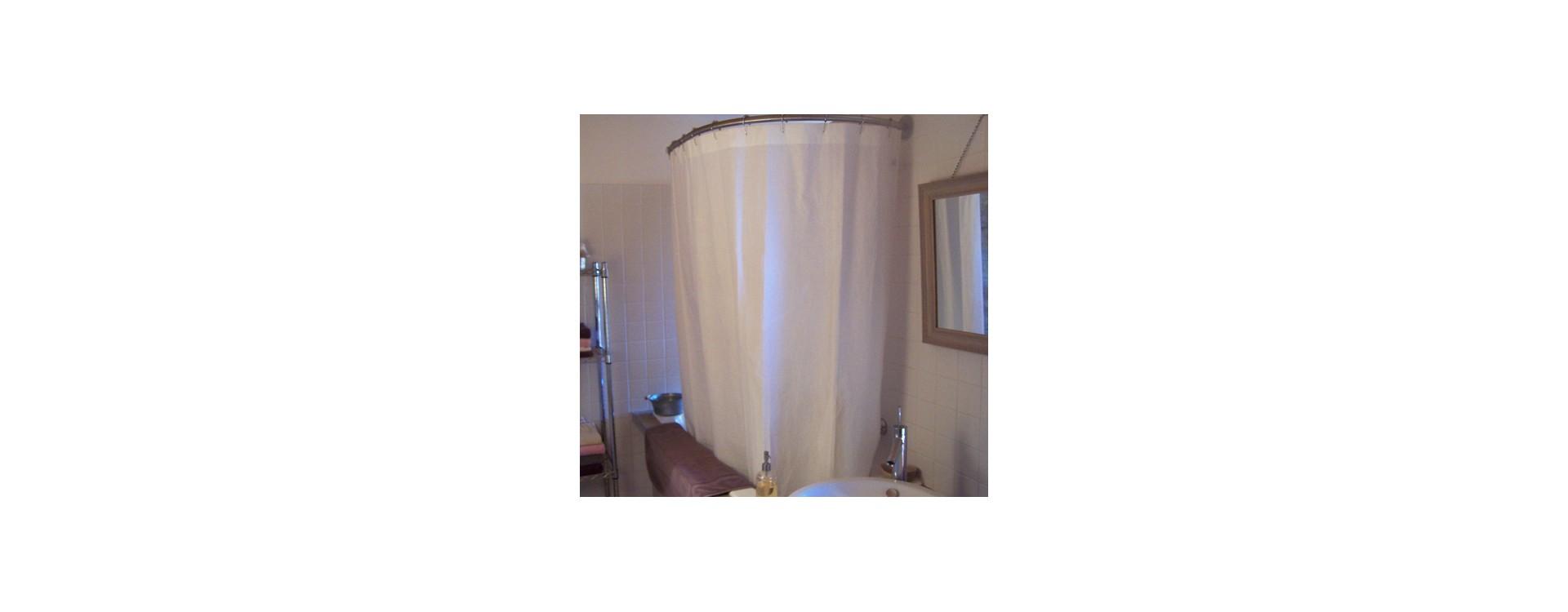 Barre de rideau de douche ovale murale GalboBain pour baignoire
