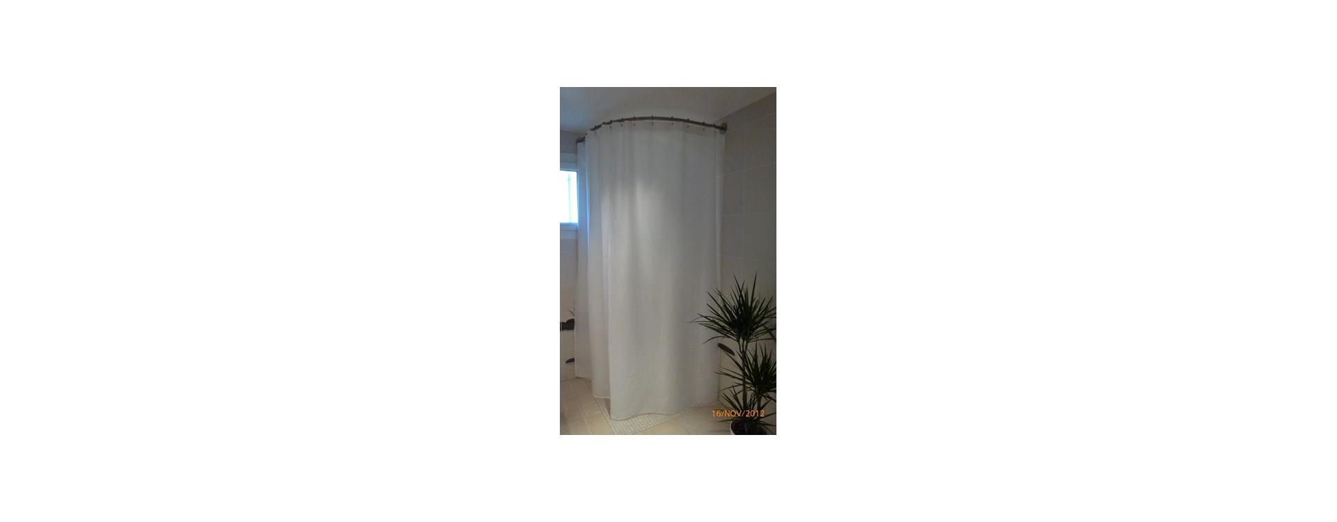 rideau de douche grande hauteur sur